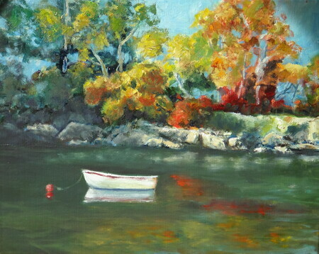 A Quiet Afternoon in the Bay  (Oil 16 x 20)sold