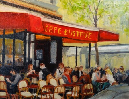 Cafe Gustave (11 x 14 Oil) Sold