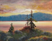 """Sunset Sentinels"" 11x14 Oil sold"