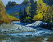 Fall On The Crowsnest (11x14 OIL)