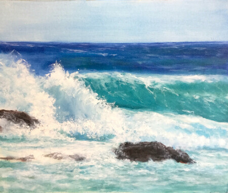 Waves  Acrylic on canvas (20x24)